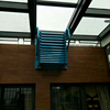steel material manual operate wall supporting extendable ladder