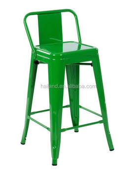 xavier pauchard metal bar stool low back rest t350324ab1