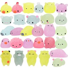 Mskwee 2019 Amazon Hot Sale Kawaii Glitter Mini Mochi Squishy Toys Stress Relief Toys Mochi Gift for Kids