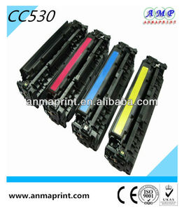 China Manufacturer compatible toner cartridge for HP printer spare parts hp toner CC530/1/2/3A