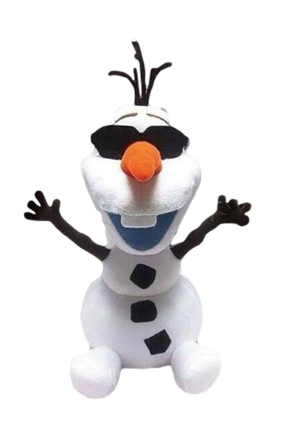 "Disney Japan. Frozen Soft Plush Smiling Olaf Wearing Sunglasses. Total 14"" H (37cm) .Limited Edition.Japan Import."