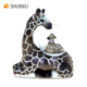 Resin Baby Giraffe Sitting on the Mather Giraffe's Back Figurine Resin Snow Globe Animal Theme Gift and Souvenir