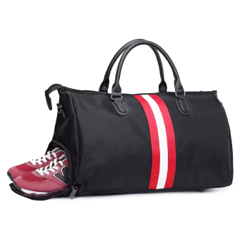 Wholesale multifunction waterproof sports duffle travel gym bag with shoes compartment