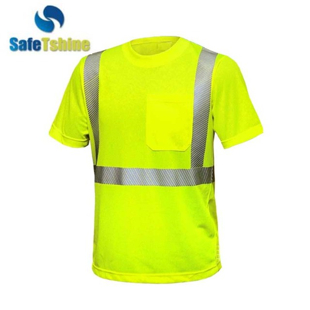 High visibility new design safety reflective pocket shirt