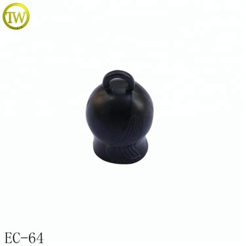 Wholesale black metal cord end caps to adjuster different shapes end cord clip