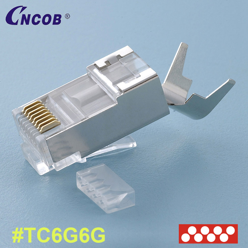 Best Quality Ftp 8p8c Rj45 Plug Cat7 Connector Cat6 Wiring Product Picture