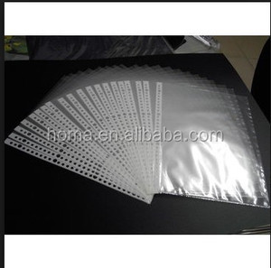100% eco-friendly pp file a4 plastic sheet protector for sale