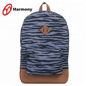 Best selling zebra printing customised school bag