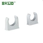PVC electrical conduit clips / pipe support brackets / mounting brackets