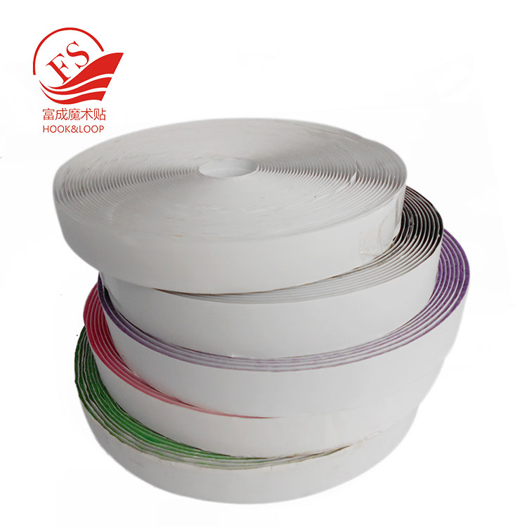 Factory Sticky Glue Hook and loop tape roll strips with adhesive back Mounting Tape for Picture and Tools Hanging