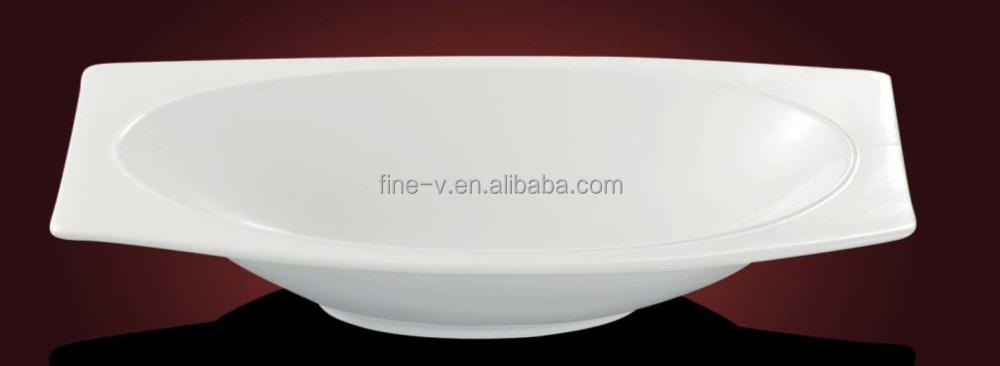 Strengthen porcelain tableware Shark's fin plate