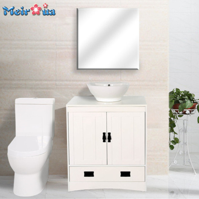 HF-S008 Manufacturer supply white small single sink bathroom vanity cabinet