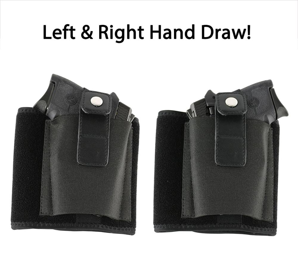 Wholesale Durable Neoprene Ankle Belt Gun Holster for Concealed Carry with Elastic Pouch