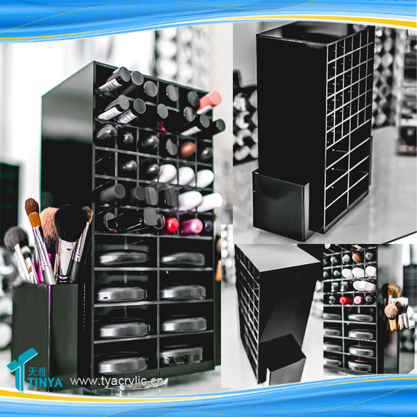 New Product Spinning Lipstick Tower Kiosk,Acrylic Makeup Storage  Box,Wholesale Eyebrow Pencil Display