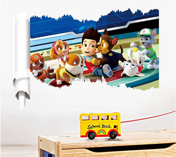 kid favorite cartoon 3d window decals dog patrol wall stickers buy