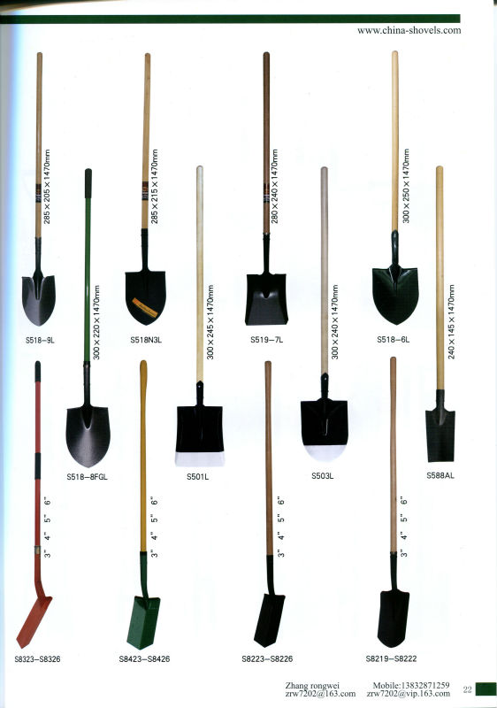High quality metal gardening hand tools steel spade shovel for Quality garden hand tools