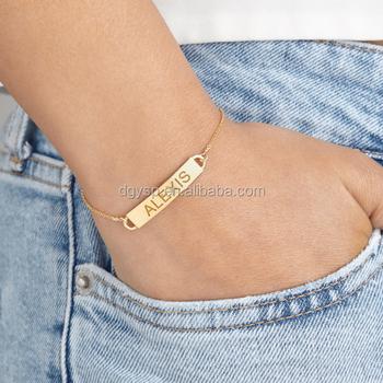 Jewelry Personalised Nameplate Bracelet