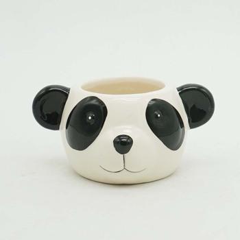 Noir Et Blanc En Céramique En Forme De Panda Pot De Fleur Planteur Succulent Dessin Animé Panda Pot De Fleurs En Céramique Buy Pot De Fleur En