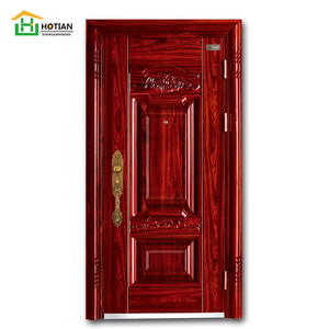 high quality indian style house powder coating hollow core main metal door design