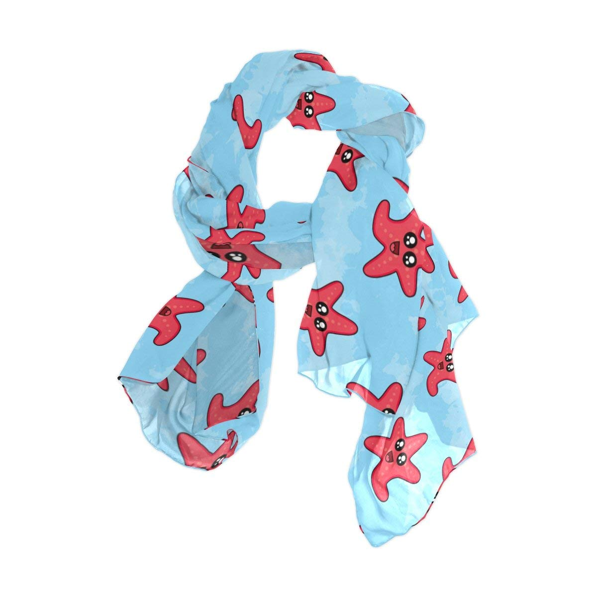 Cartoon Seaweed World Fish Unisex Fashion Quick-Drying Microfiber Headdress Outdoor Magic Scarf Neck Neck Scarf Hooded Scarf Super Soft Handle