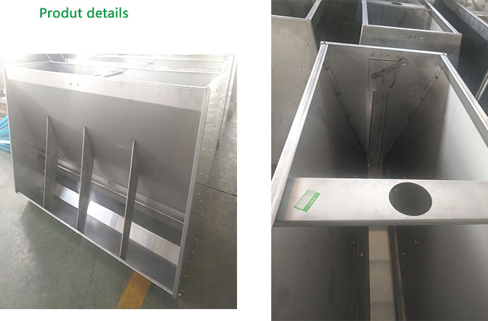 Piglet stainless steel feeder for pig nursery farm feeding equipment