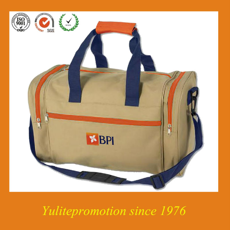 Factory cheap promtional polyester sports bag luggage travel bag