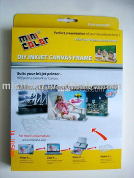 picture regarding Printable Canvas named Do-it-yourself Inkjet Printable Canvas Body With Inkjet Cotton/polyester Canvas Sheets,A4/letter Measurement - Invest in Canvas Picture Frames,Homemade Canvas Body,Blank