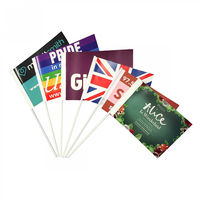 Double sides printed hand waving paper flag