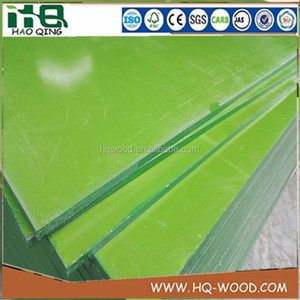 PVC Green Plastic Film Faced Plywood , PVC Waterproof Construction Plywood