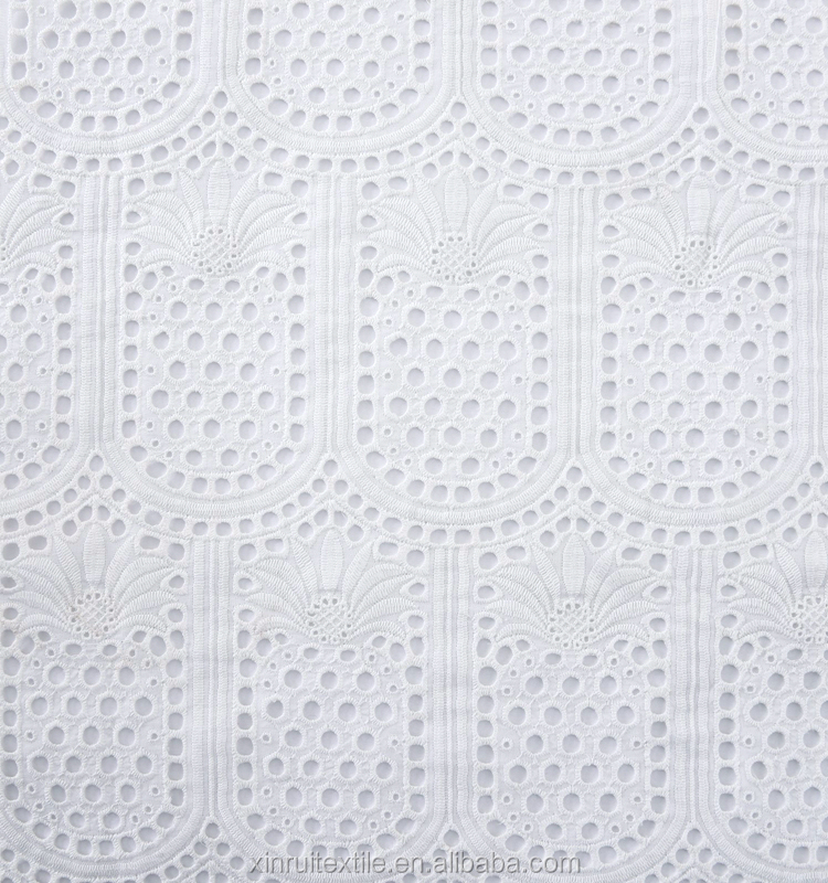 embroidery lace cotton fabric on embroidered