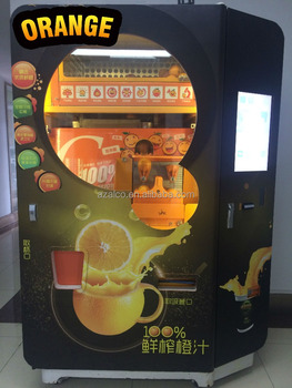 Credit Card Bill Coin Apple Pay Alipay Operated Orange Juice Vending Machine Buy 280ml Orange Juice Squeezing Juice Vending Machine Orange Juice
