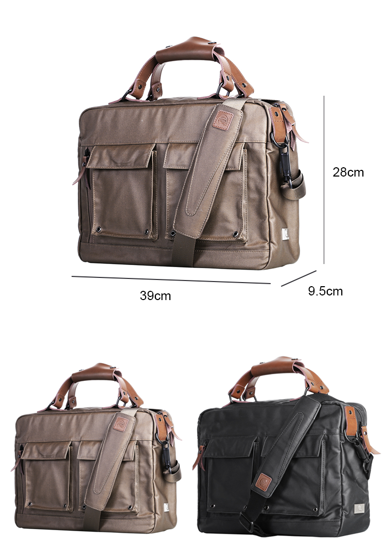 Brand elegant design urban men waterproof business 15.6'' laptop satchel messenger bag briefcase