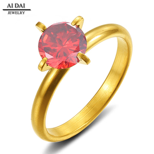 A low price jewelry with 18k gold big red the spar mosaic female Rings