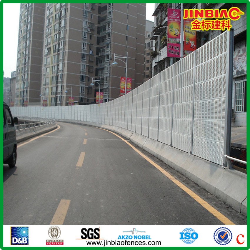 Metal Highway Sound Barrier Wall For Noise Reduction