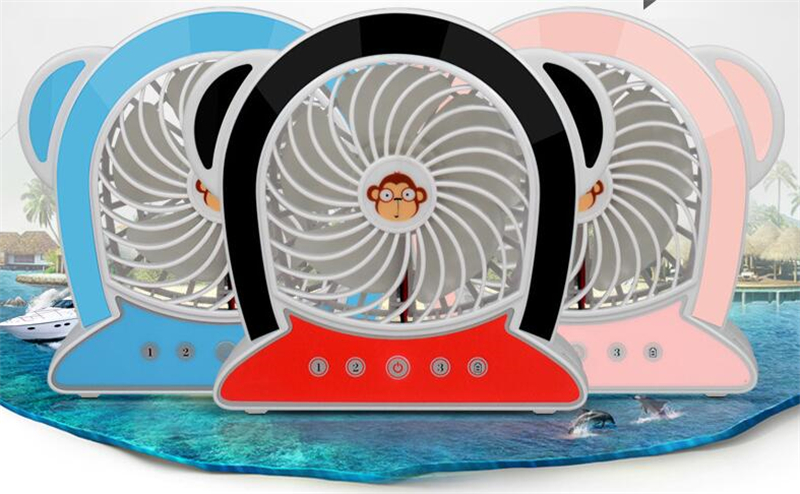CT-696 Monkey Mini Fan USB rechargeable lithium battery super Simple portable fan