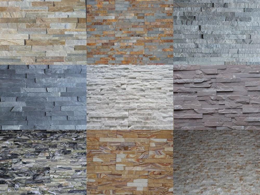 naturales oxidado pizarra cultura piedra revestimiento de la pared exterior - Revestimiento Exterior