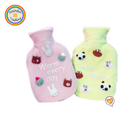 YWLA091 RDT Home Water Injection Storage Bag Girl Portable Plush Hand Warmer Cartoon Rabbit Bear Panda Hot Water Bag Bottle Pad