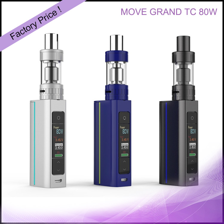 VV E-cig OLED Screen Ceramic Coil Viva Kita MOVE GRAND TC 80W Iphone 6 Vape Case