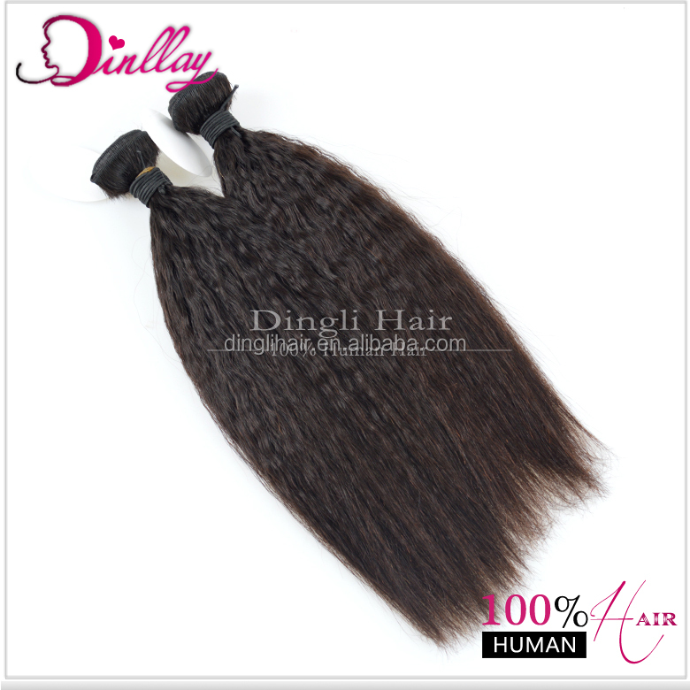 Virgin Unprocessed Indian Remy Hair Coarse Yaki Kinky Straight Hair