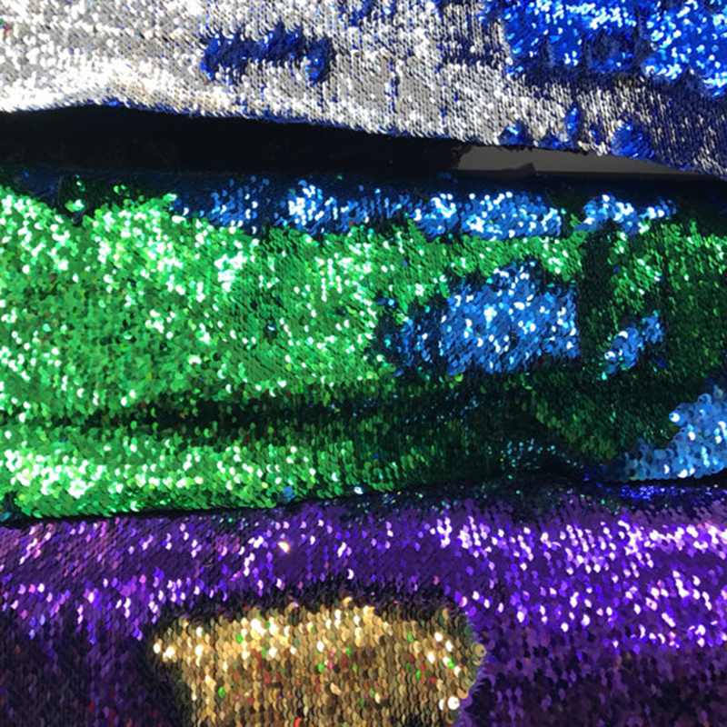 "Magic Double color gradient Sequin fabric New mermaid flip up sequins on spandex base Reversible Sequins 58/60"" sale by yards"