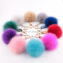 5cm Genuine Mink Fur Ball Keychian Pompon