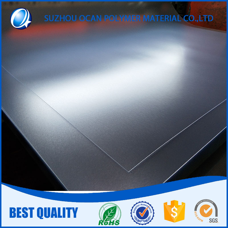 Super Glossy and Emboss Surface 0.68mm Thickness Clear PVC Sheet