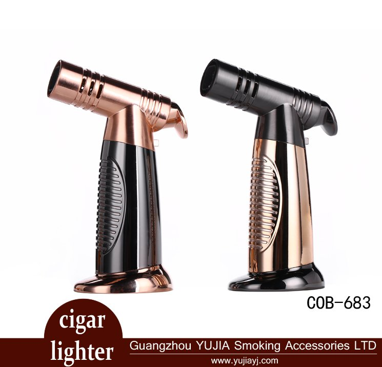Best selling cigar accessories cigarette gas 4 flame torch cigar lighter