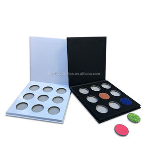 Wholesale private label Free sample empty eyeshadow palette cardboard design your own makeup palette packaging