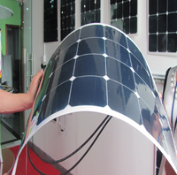 custom shaped solar panels flexible 220w light weight pv modules