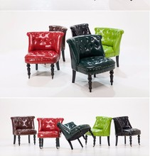 Multi-pattern restaurant country style furniture leather chair sofa