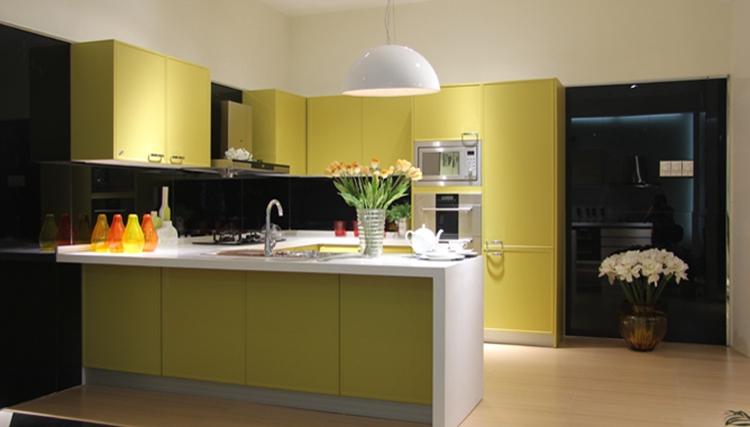 Económico Modular Muebles De Cocina Para La Cocina Pequeña Con Laca ...