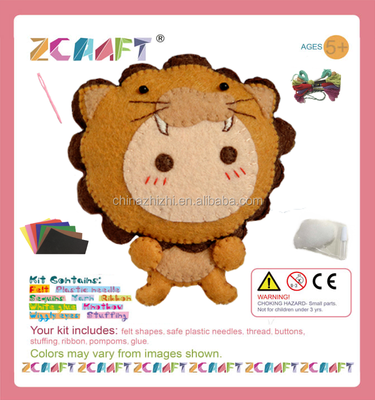 Felt constellation DIY Kits Leo Toy