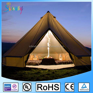 Large Waterproof Canvas Camping 3m 5m 6m 4m Bell Tents For Sales