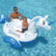 New design Giant inflatable magical Unicorn ride on swimming pool float